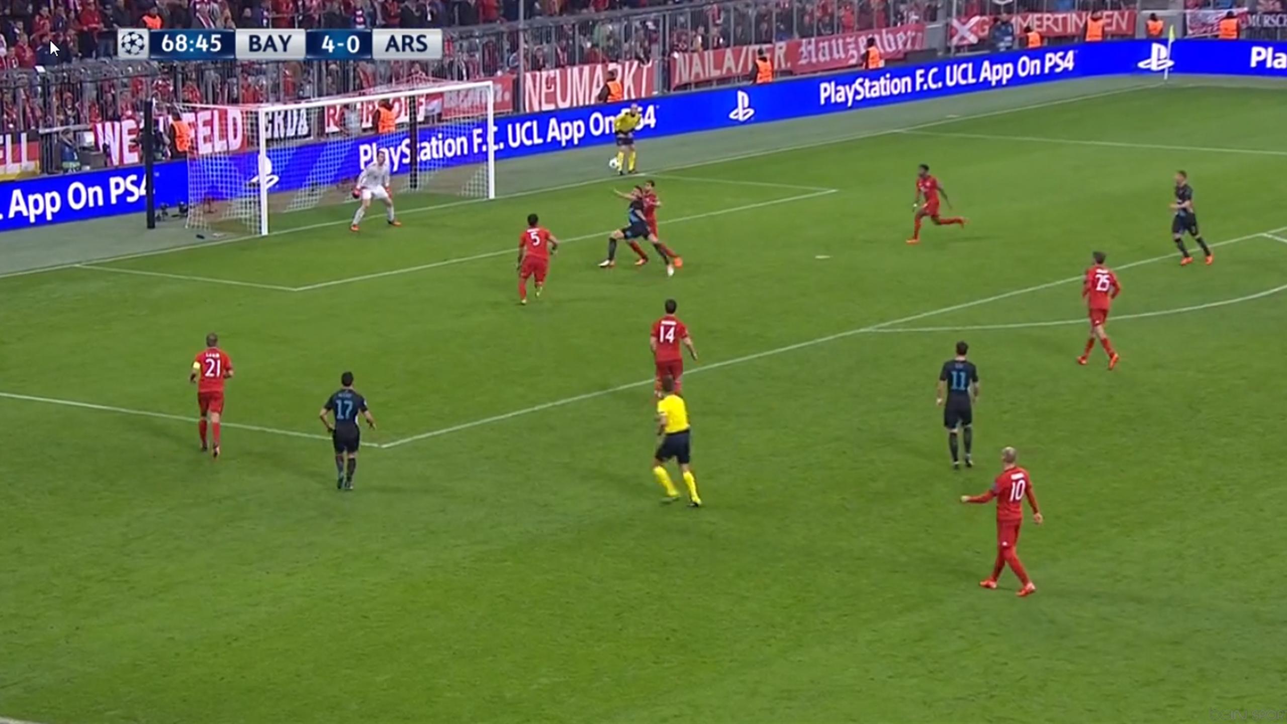 Giroud a marqué un beau but sur le terrain du Bayern avec Arsenal.