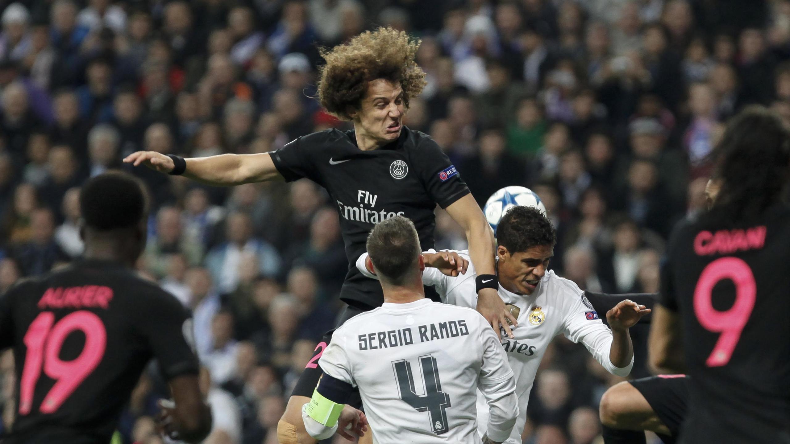 David Luiz lors de Real Madrid - Paris Saint Germain en Ligue des Champions le 3 novembre 2015