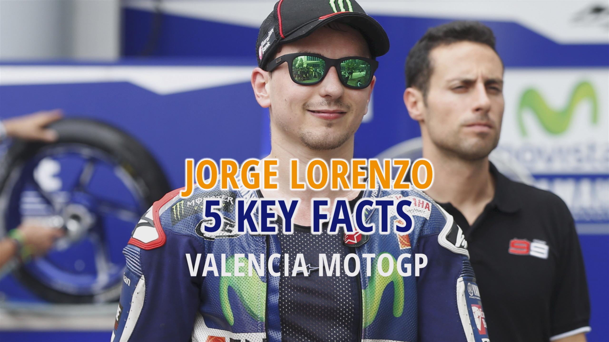 Jorge Lorenzo - 5 key stats for the Valencia MotoGP