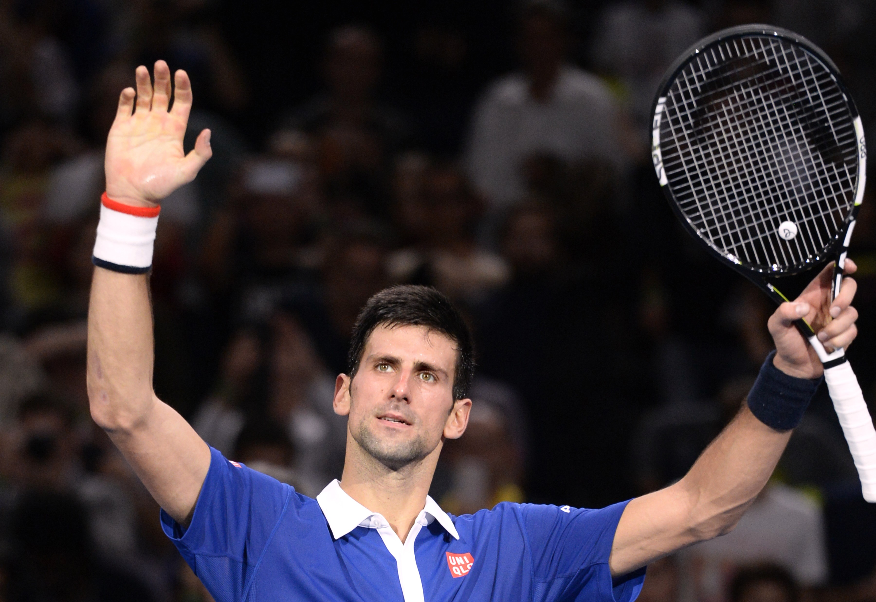 Novak Djokovic au Masters 1000 de Paris 2015