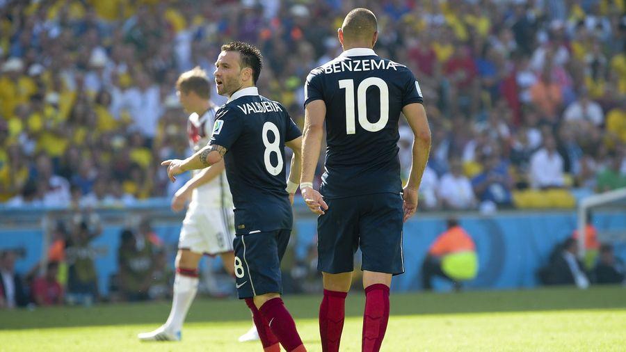 Valbuena et Benzema en équipe de France