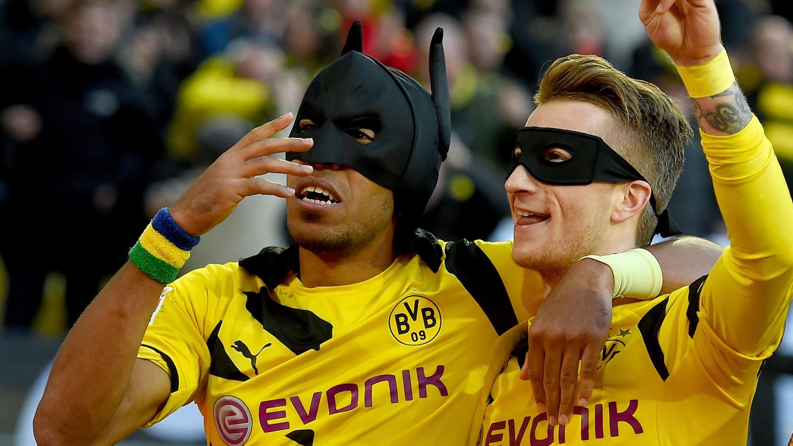 Aubameyang and Reus - Batman and Robin