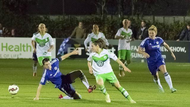 Wolfsburg condemn Chelsea ladies to defeat in last 16
