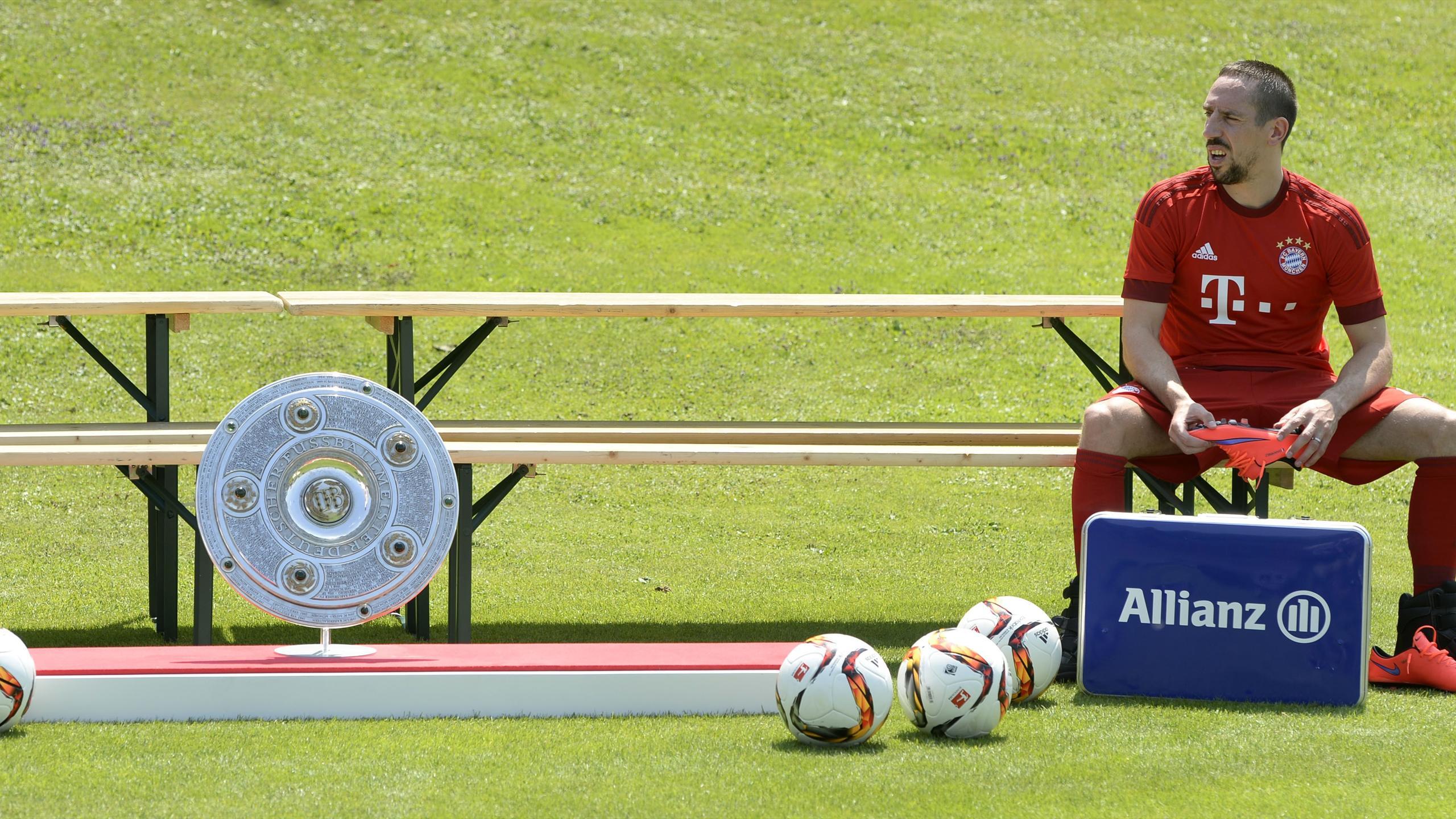 Franck Ribéry lors d'un entrainement à Munich