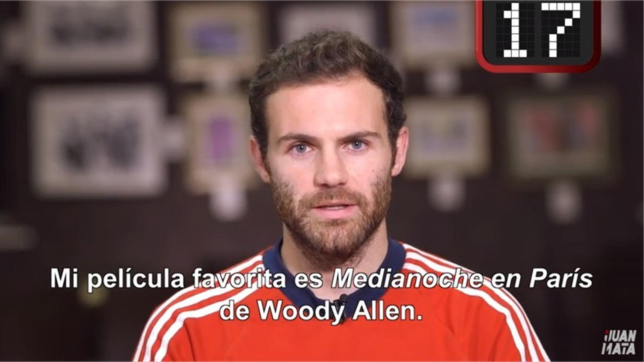 Manchester United's Juan Mata reveals facts for his Youtube channel