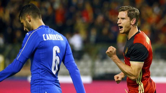 Candreva illude l'Italia, il Belgio la riporta alla realtà: 3-1