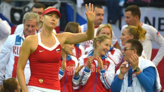Kvitova and Sharapova leave Fed Cup final tied