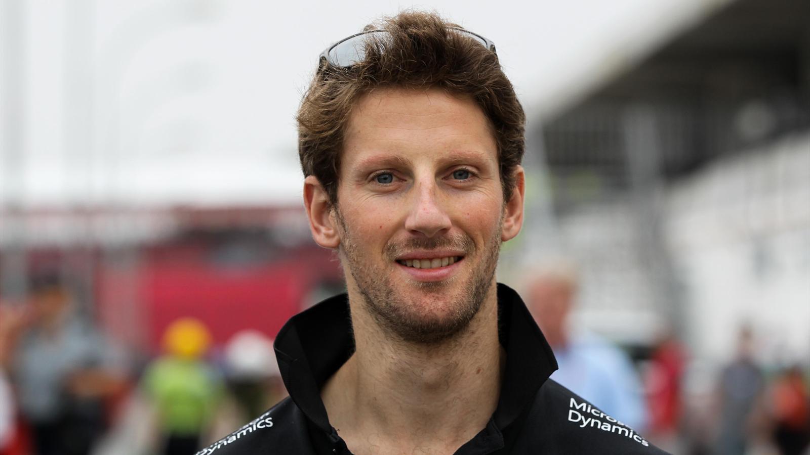 Roamin Grosjean (Lotus) au Grand Prix du Brésil 2015