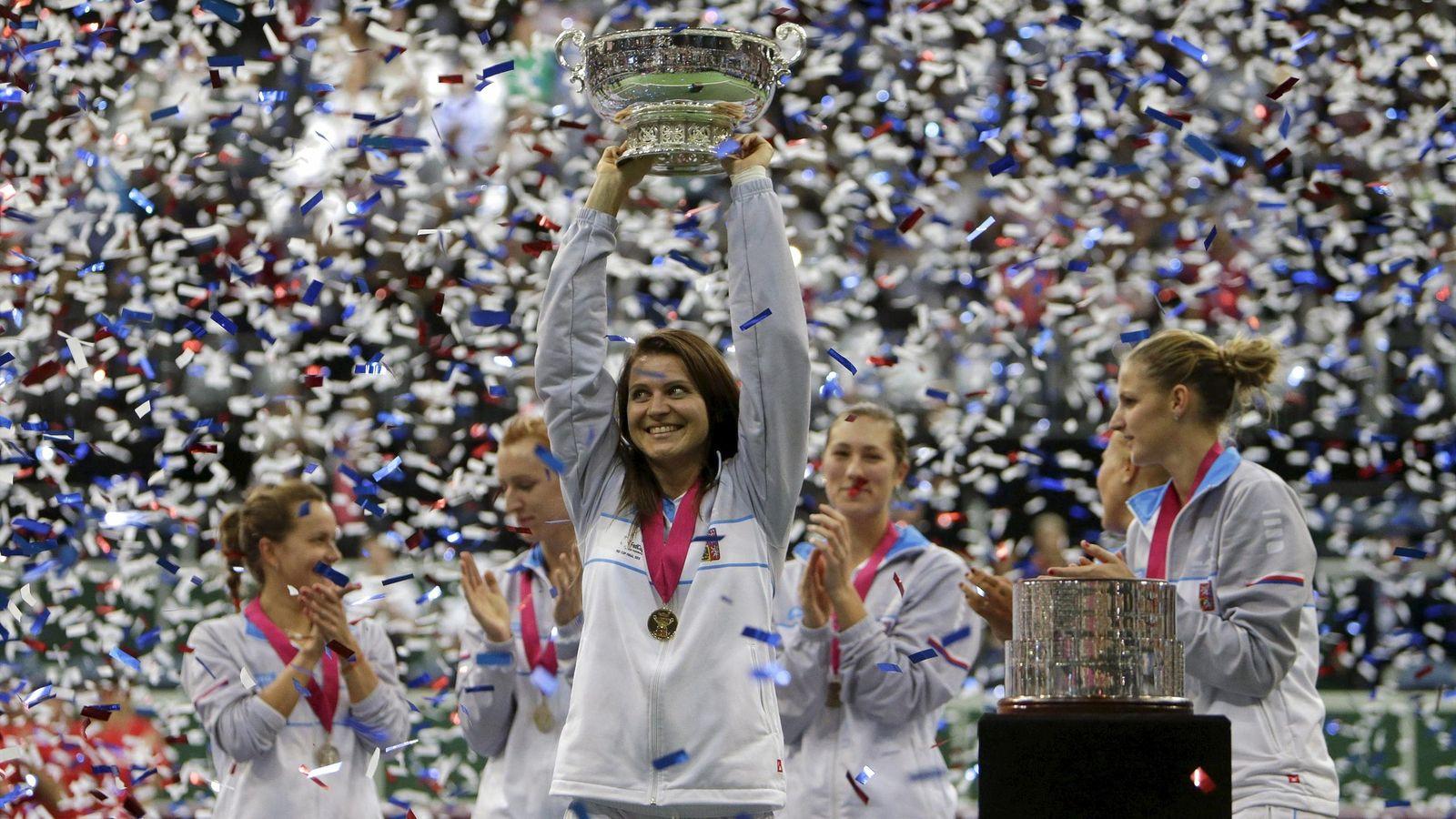 Vítězky loňského Fed Cupu; © eurosport.com