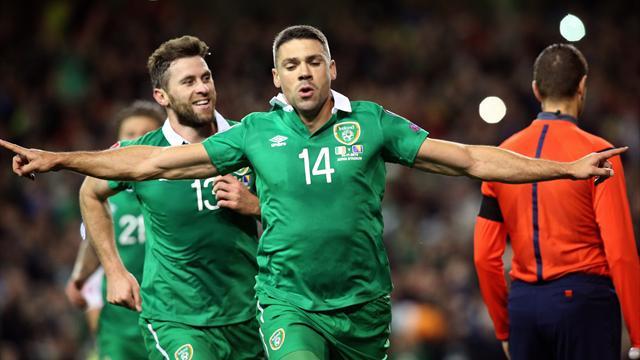 Walters strikes twice to send jubilant Ireland to Euro 2016