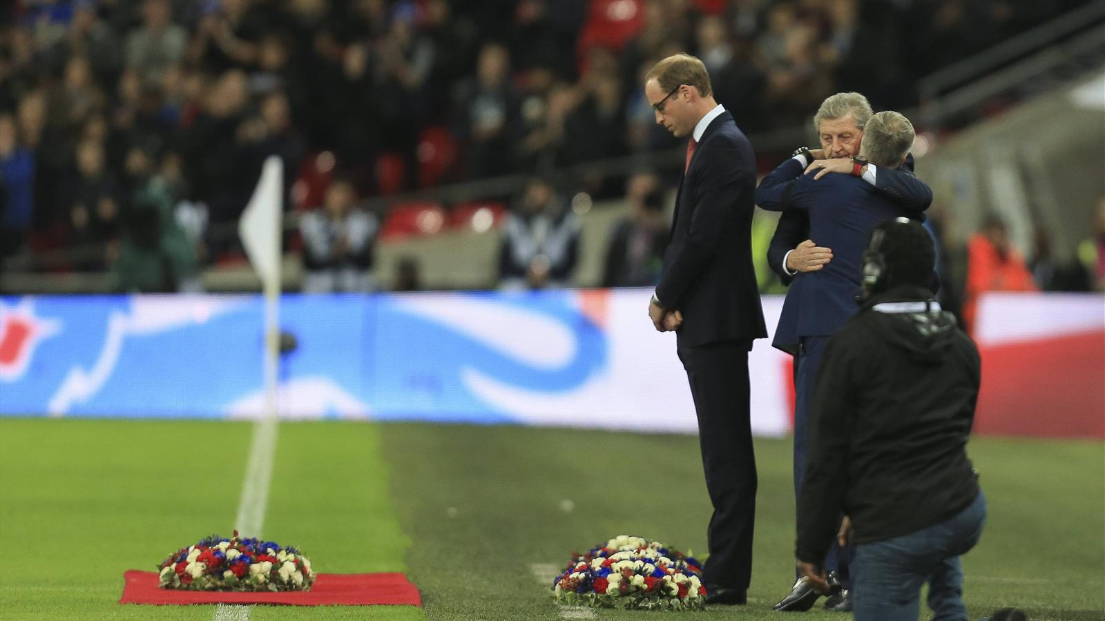 Prince Harry, Roy Hodgson, Didier Deschamps, England, France, Wembley