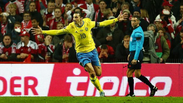 Zlatan envoie la Suède à l'Euro