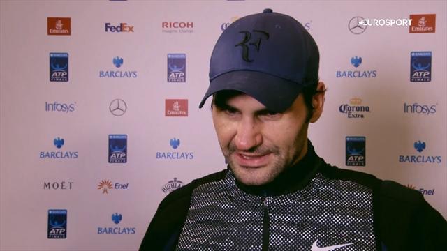 Federer : «Je vais pouvoir construire sur ma victoire face à Djokovic pour la suite du Masters»