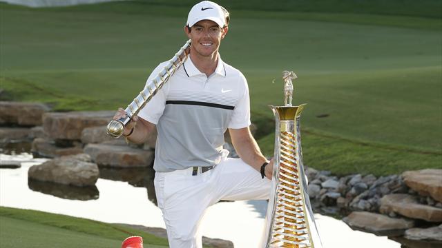 Coup double pour McIlroy, vainqueur à Dubaï et numéro 1 européen