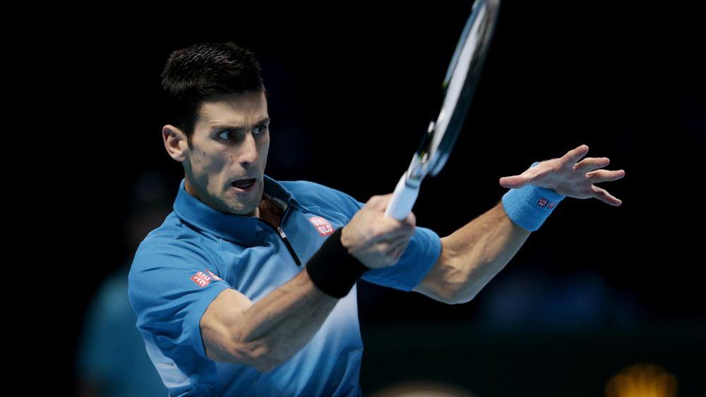 Novak Djokovic takes on Roger Federer at the ATP World Tour Finals