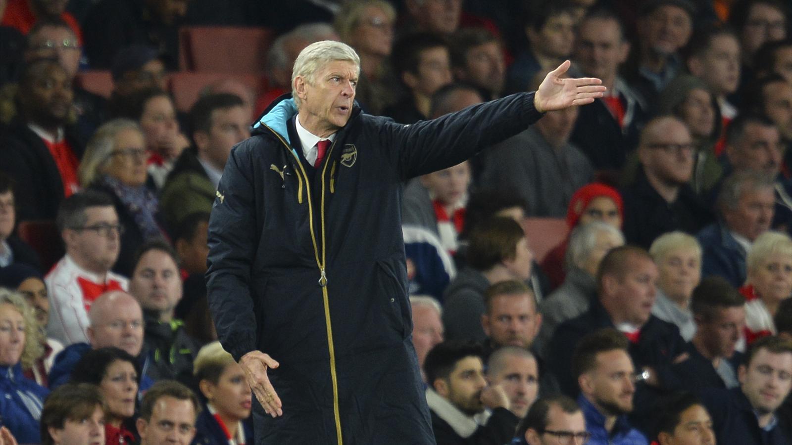 Arsène Wenger, le manager d'Arsenal, lors du match de Ligue des champions face à l'Olympiakos, le 29 septembre 2015.