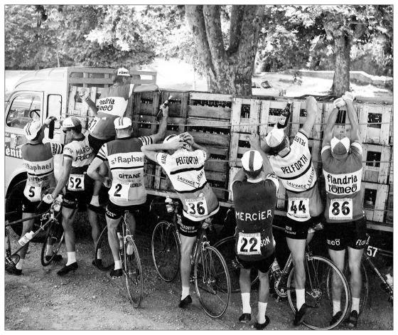 Велогонщики пьют