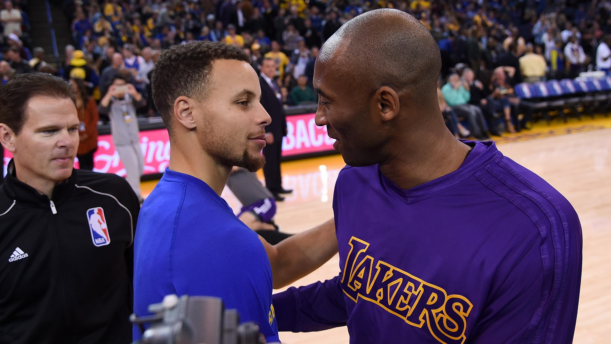 Stephen Curry face à Kobe Bryant