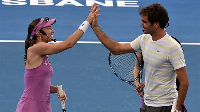 Federer et Hingis joueront ensemble aux JO de Rio