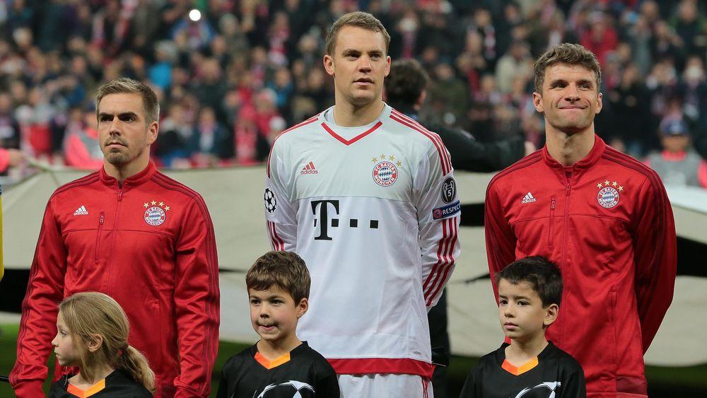 Stars des FC Bayern München: Philipp Lahm, Manuel Neuer und Thomas Müller
