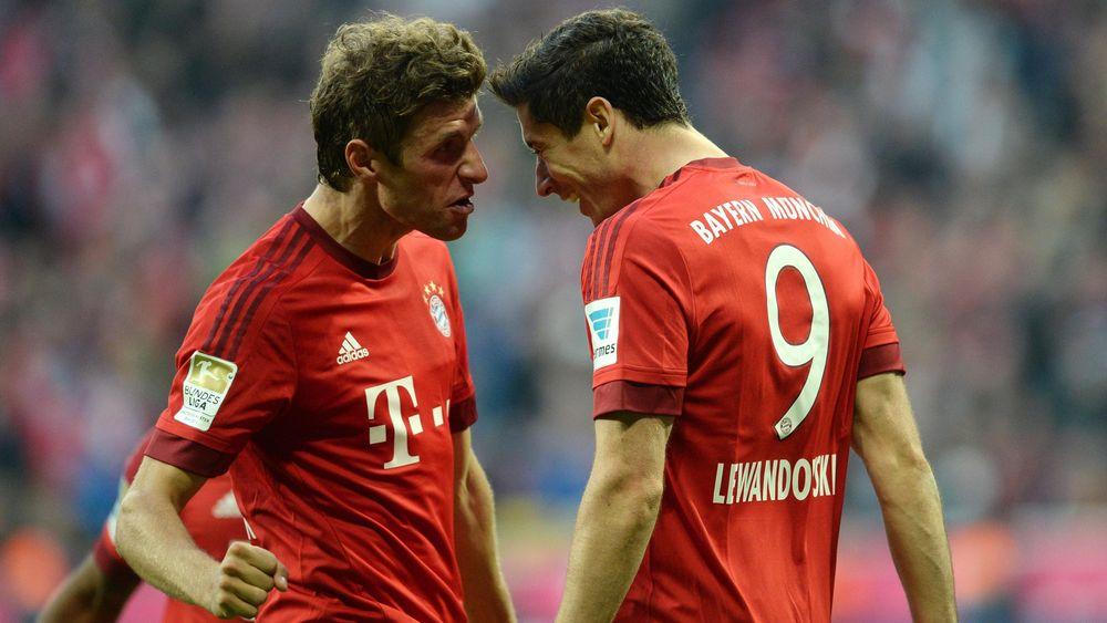 Thomas Müller und Robert Lewandowski vom FC Bayern sind das erfolgreichste Sturmduo in der Bundesliga