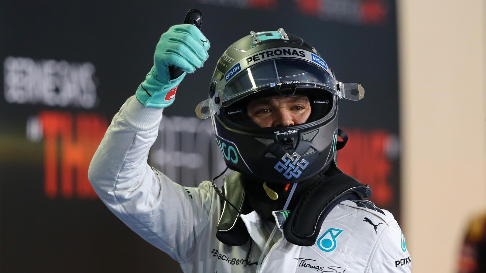 Nico Rosberg (Mercedes) a décroché la pole position du Grand Prix d'Abou Dabi 2015