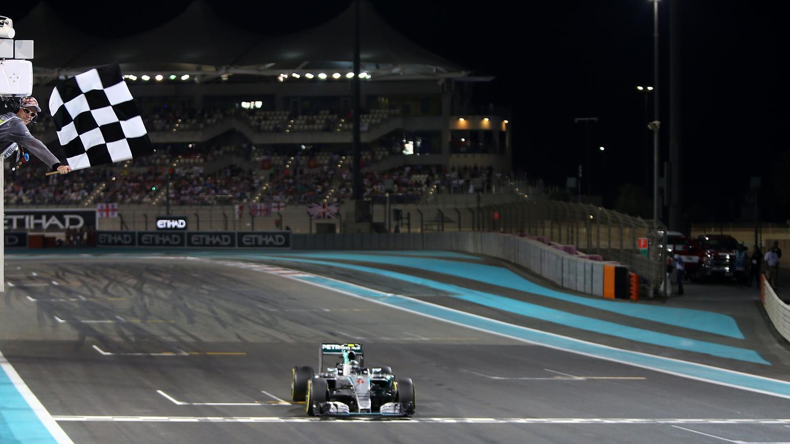 Nico Rosberg (Mercedes), vainqueur du Grand Prix d'Abou Dabi 2015