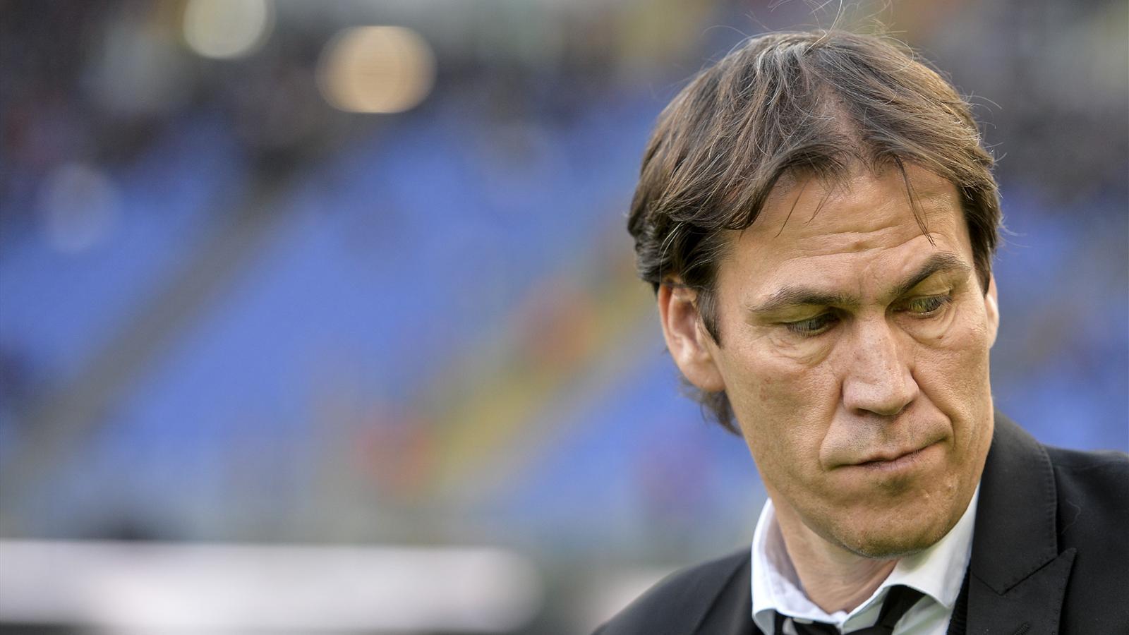 Rudi Garcia, l'entraîneur de l'AS Rome, contre l'Atalanta Bergame