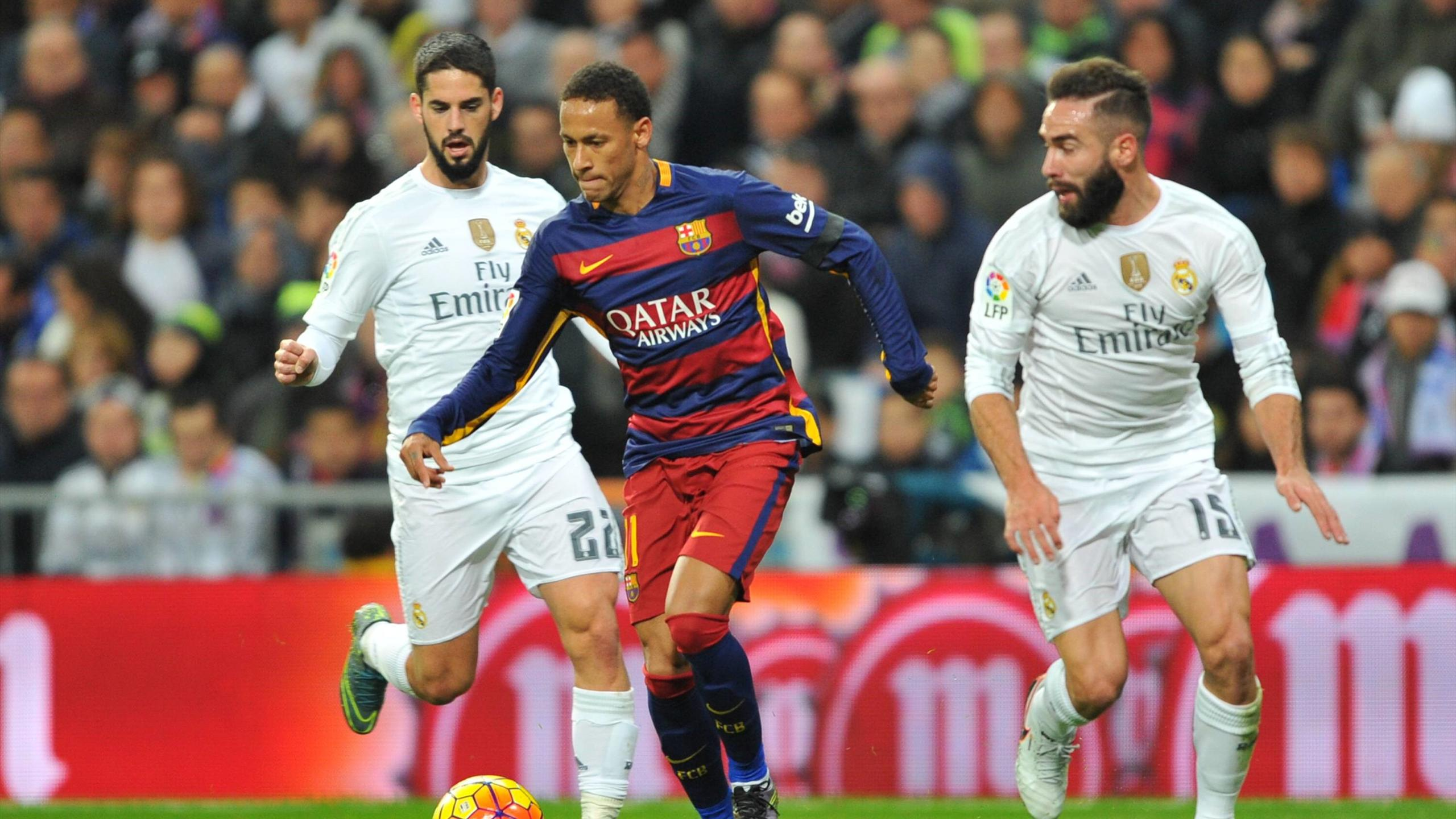 Neymar during El Clasico Barcelona vs Real Madrid