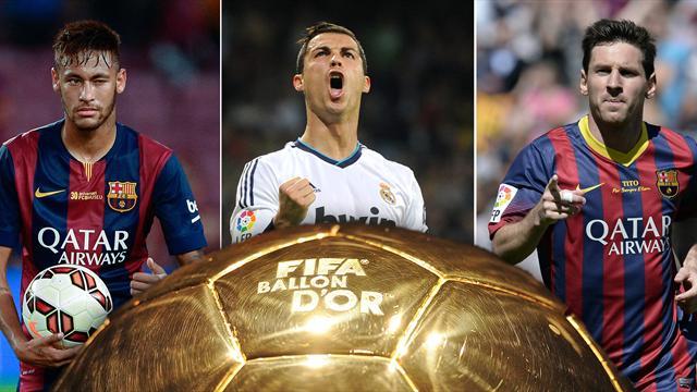 Los perfiles de los tres candidatos: Messi, Cristiano y Neymar