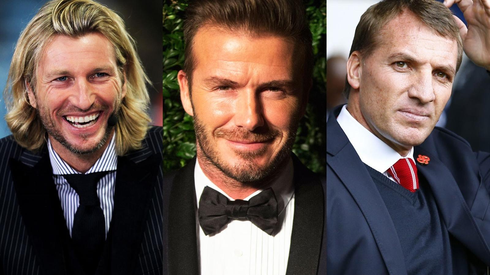 Robbie Savage, David Beckham and Brendan Rodgers