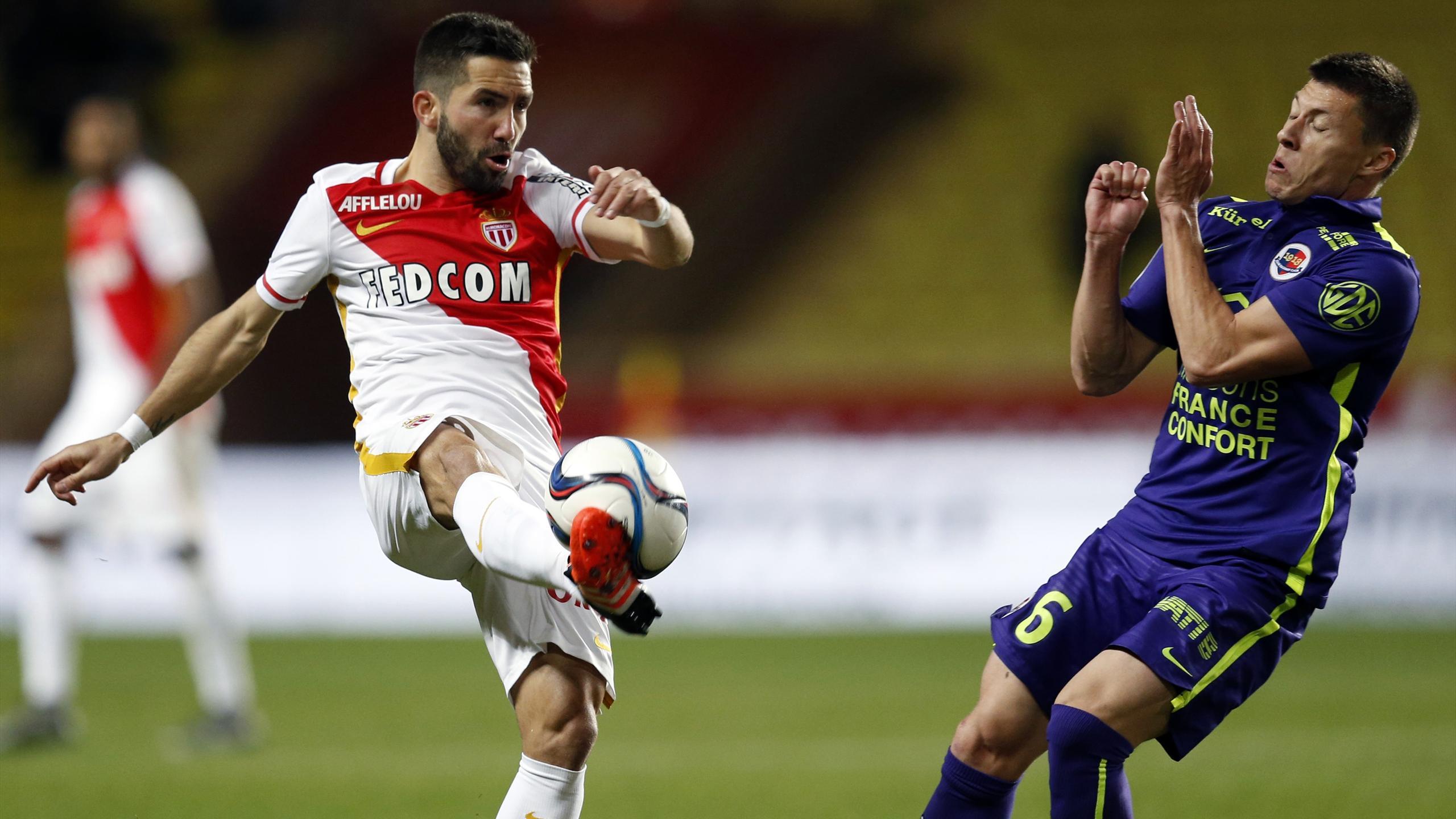 Moutinho (Monaco) face à Caen