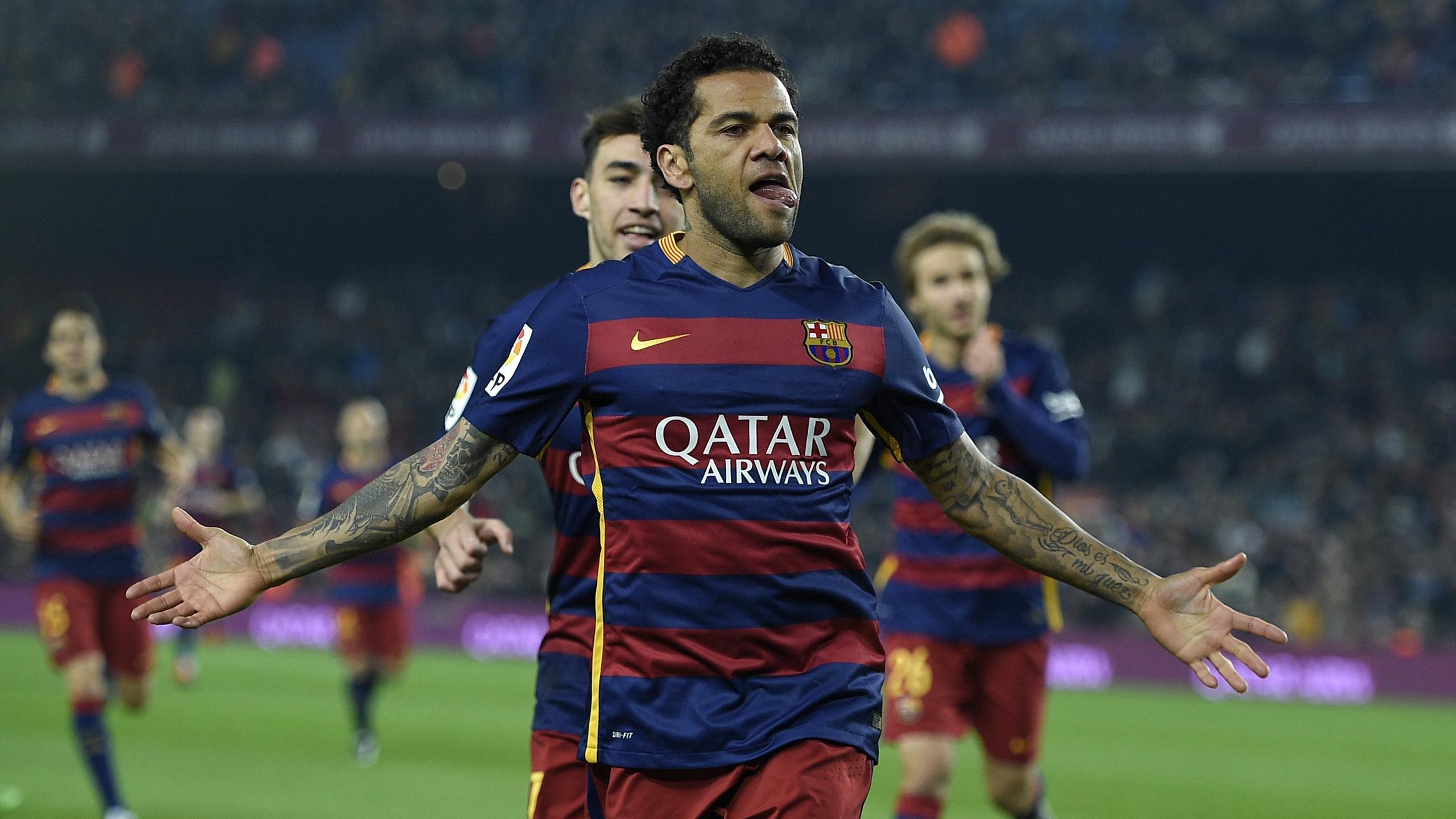 Daniel Alves avec le FC Barcelone contre Villanovense