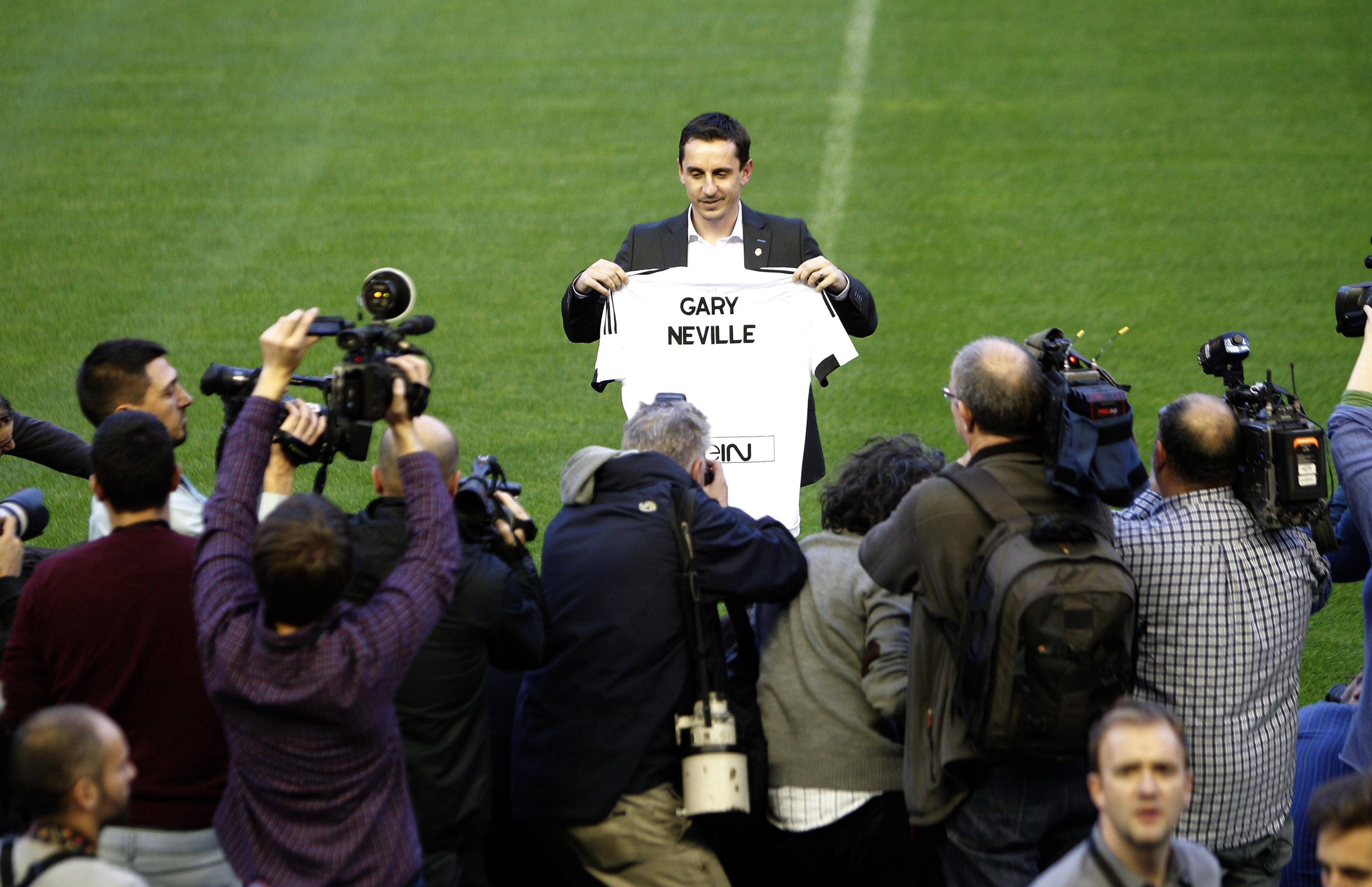 Gary Neville, le nouvel entraîneur de Valence.