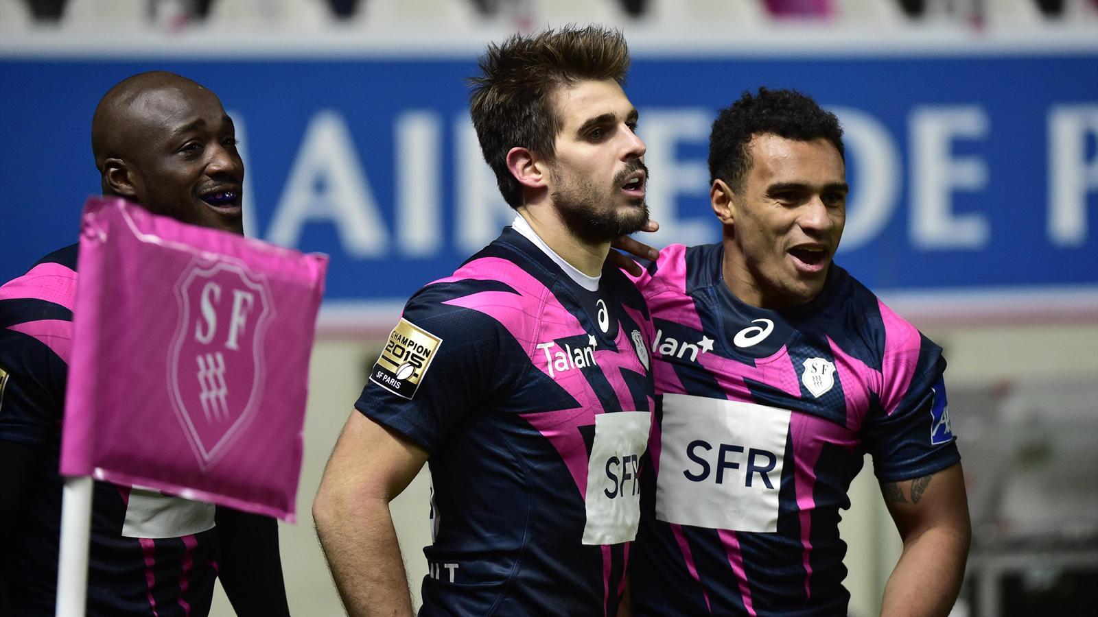 Djibril Camara, Hugo Bonneval et Will Genia (Stade français)
