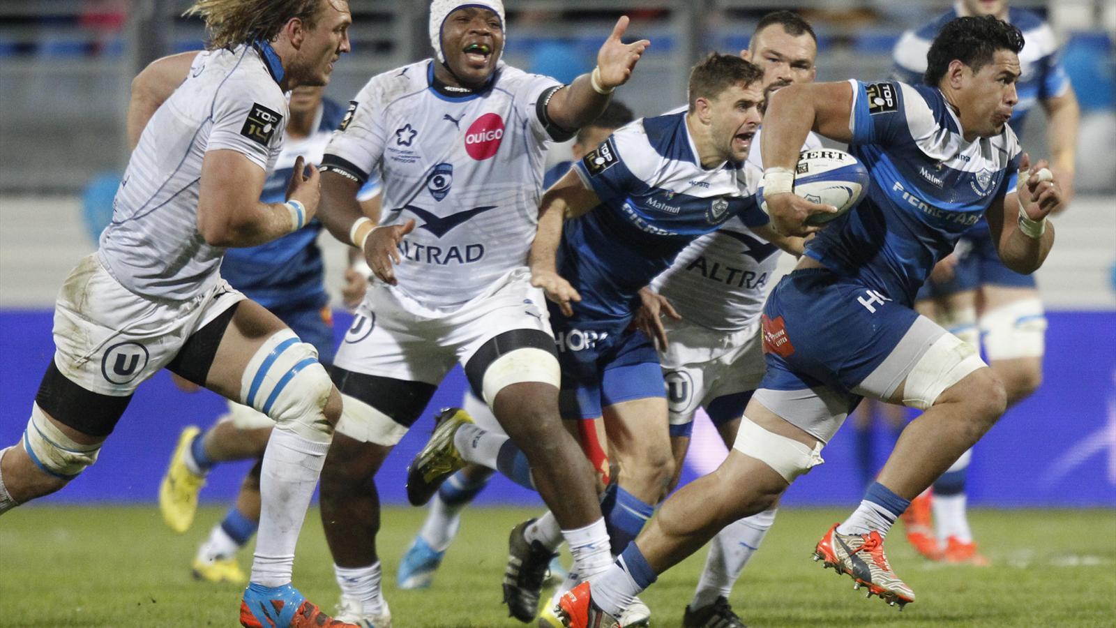 Alex Tulou (Castres) face à Montpellier - 5 décembre 2015