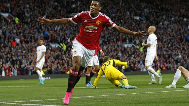Contre Liverpool, Martial devra terminer sa phase d'apprentissage