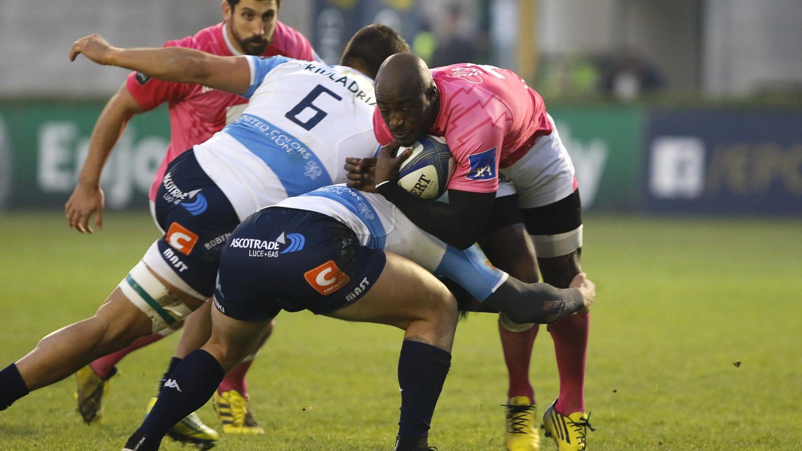 Djibril Camara (Stade français) face à Trevise - 12 décembre 2015