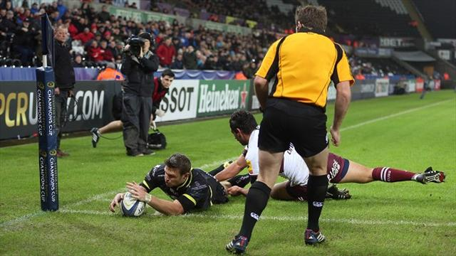 Dan Biggar leads Ospreys to narrow victory over Bordeaux