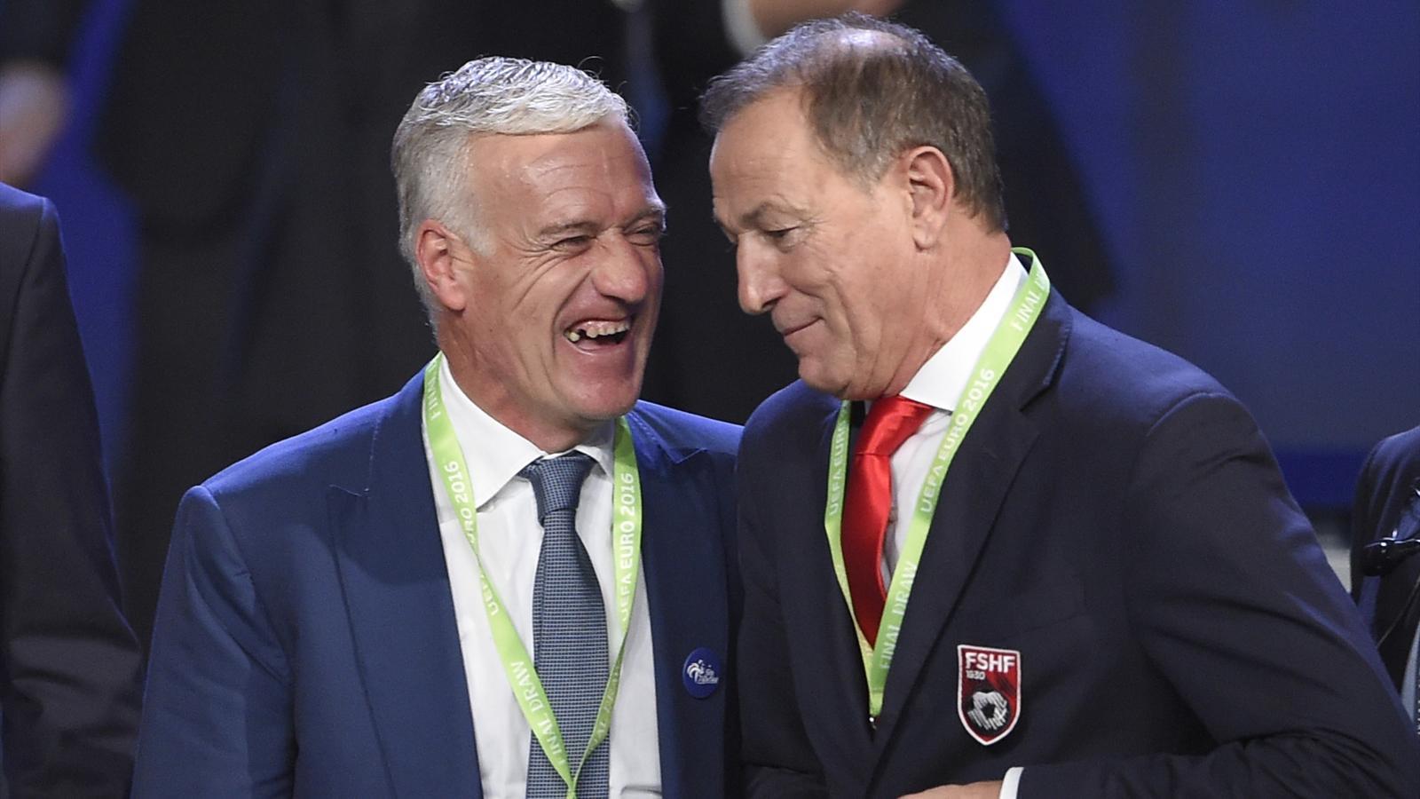 Didier Deschamps hilare lors du tirage au sort