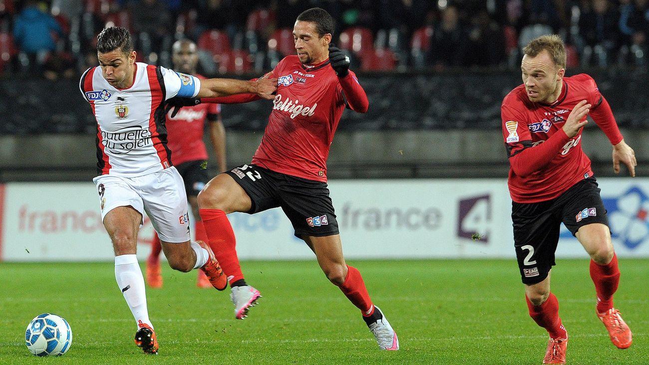 Ben Arfa, lors de Nice-Guingamp en Coupe de la Ligue