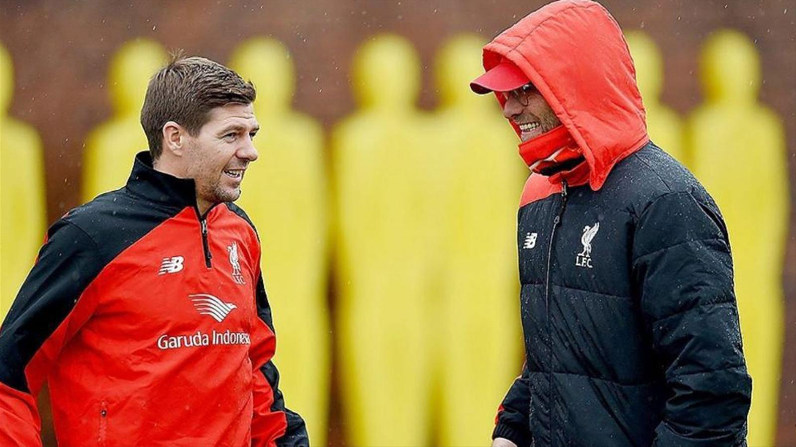 Steven Gerrard Jürgen Klopp FC Liverpool