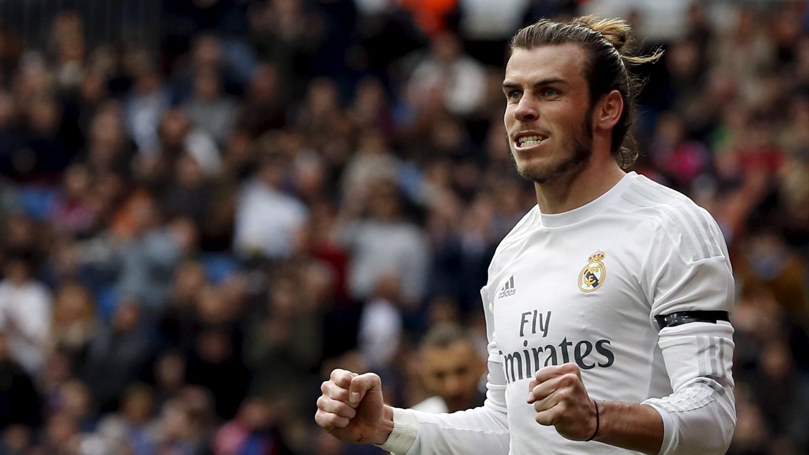 Real Madrid's Gareth Bale celebrates v Rayo Vallecano