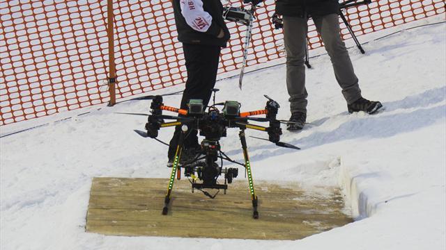 Le crash du drone tombé derrière Hirscher provoqué par des interférences
