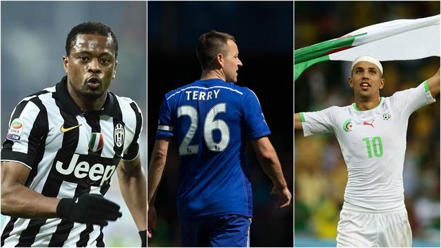 Evra, Terry, Feghouli : ces joueurs de l'étranger qui seront «libres» au 1er janvier