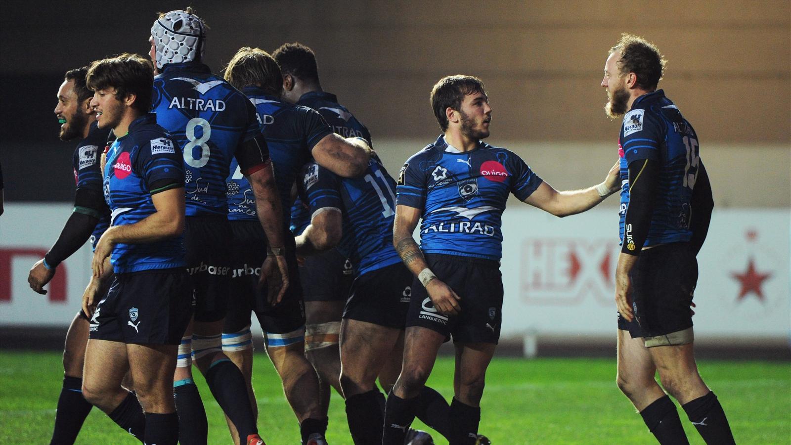 La joie des joueurs de Montpellier face à Agen - 27 décembre 2015
