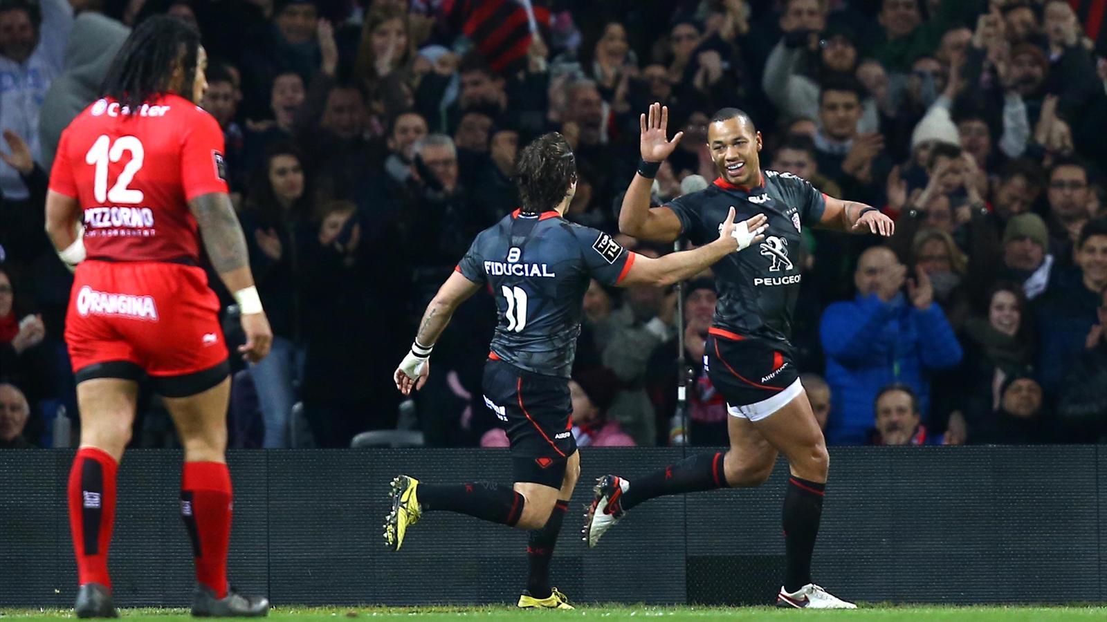 La joie de Gaël Fickou (Toulouse) après son essai face à Toulon - 27 décembre 2015
