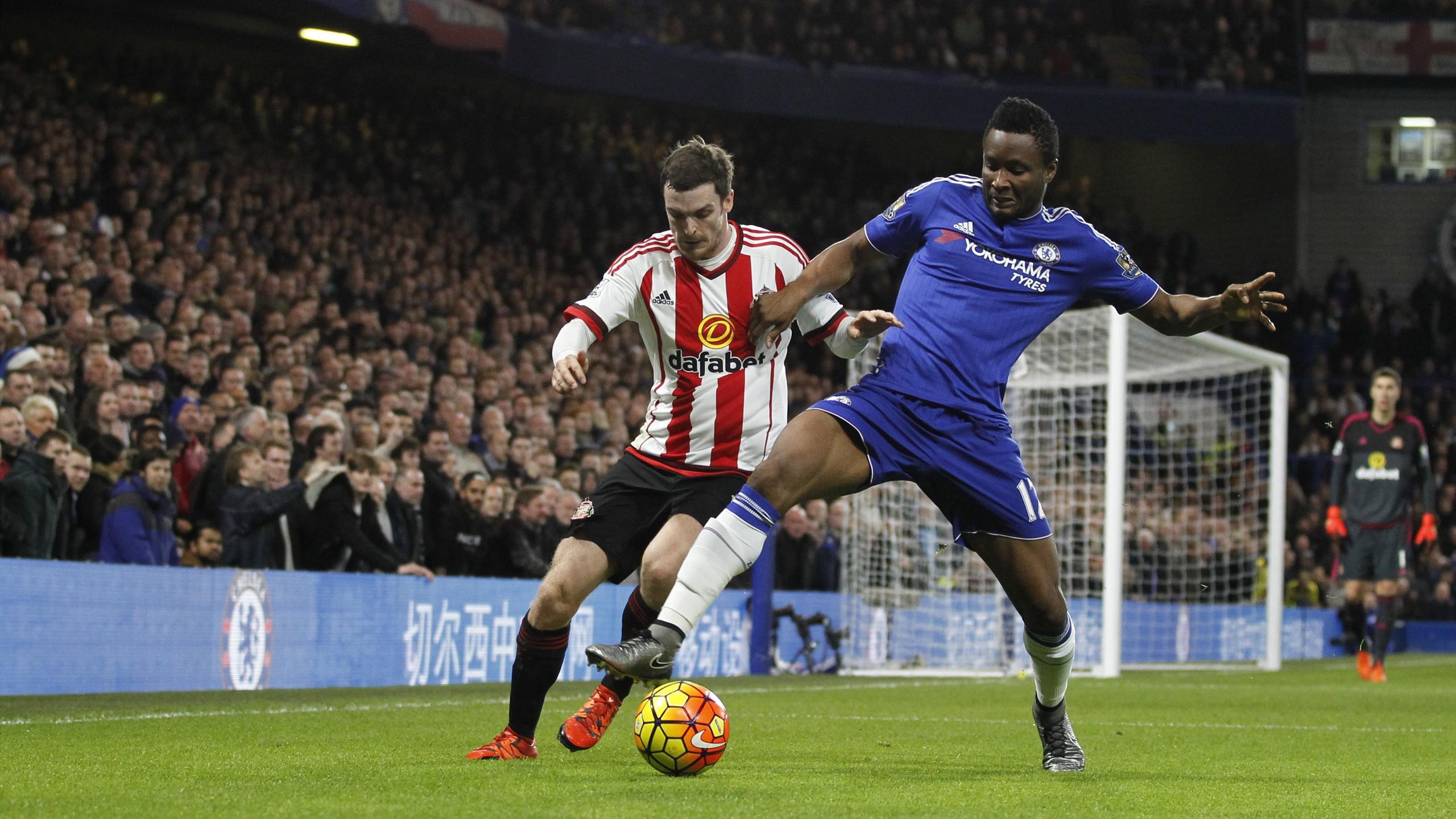 Chelsea's John Obi Mikel in action against Sunderland