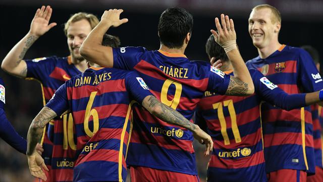 Des célébrations, la tête et un record de buts : le Barça s'est offert une dernière fête en 2015