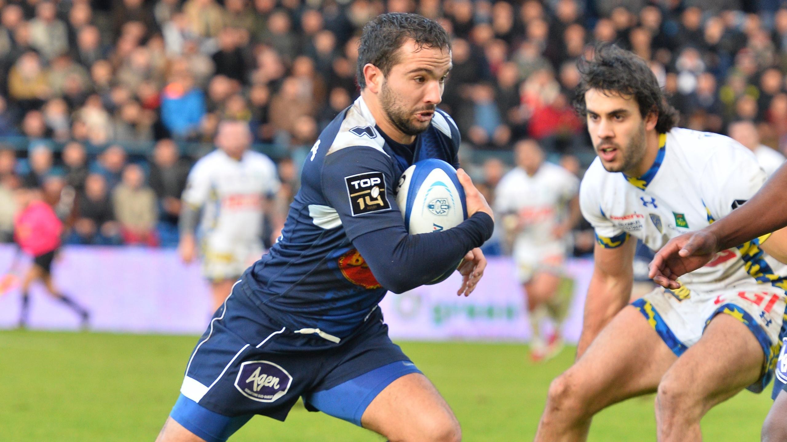 Alexi Bales (Agen) contre Clermont - 2 janvier 2016